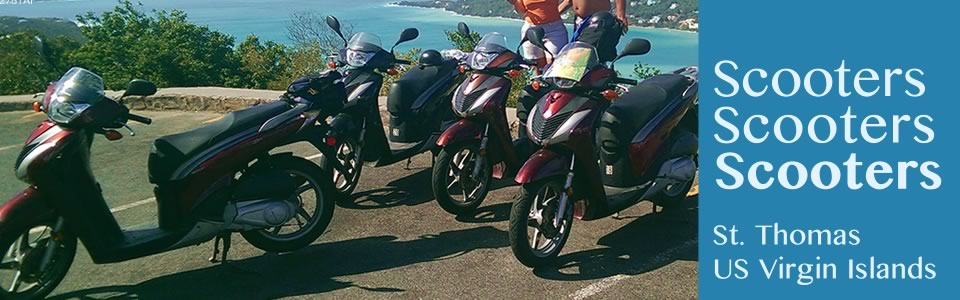 Scooter and Motorbike Rentals in St. Thomas US Virgin Islands, Caribbean